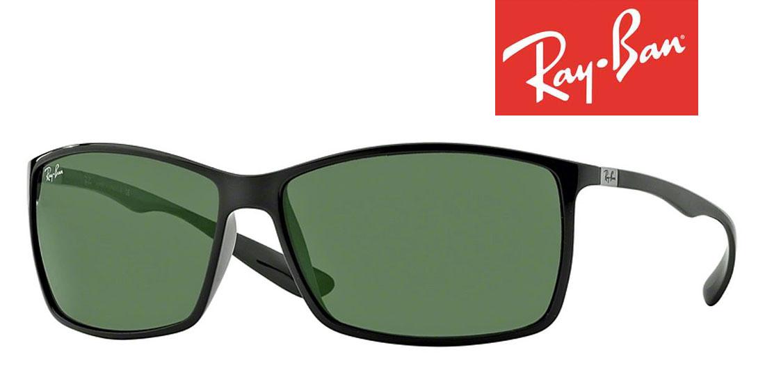 レイバンサングラス 高品質イタリア製 新品Ray-Ban LITEFORCE 型番RB4179-601/71 ブラック/グリーンレンズ UVカット紫外線 メンズ/レディース 人気ギフト誕生日 おしゃれケース アイウエアセレブ メタル/セル スクエアフレーム