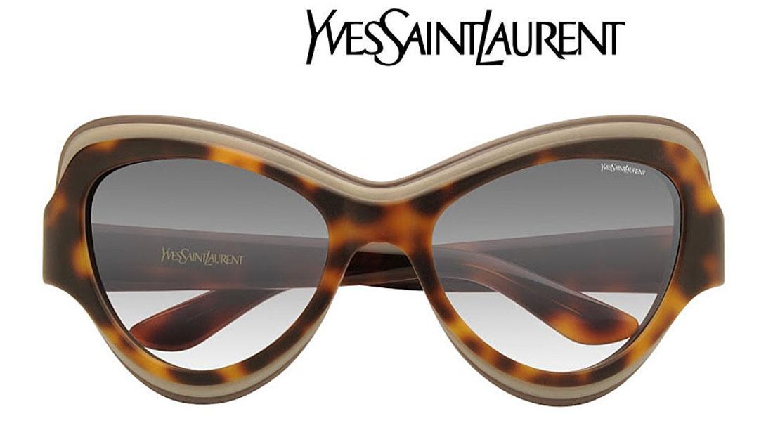 【新品】サングラス イヴ サンローラン フリーサイズ レディース メンズ ブラウン×ハバナ×グレー×グラデーション×レンズ UVカット 送料無料 誕生日 ギフト かわいい YSLマーク おしゃれ ケース ミラノ クリエンテ YSL6366s-LQ99C