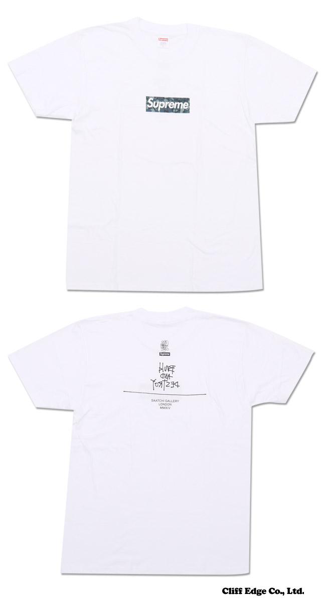 SUPREME (슈 프림) x Mo'Wax (모/왁 스) BOX Logo Tee (로고) (T 셔츠) WHITE 200-006570-050 +
