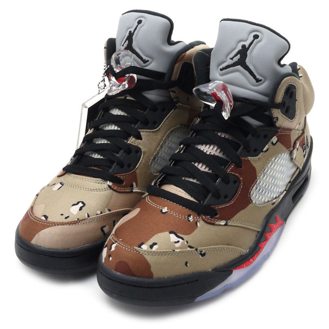 NIKE (Nike) AIR JORDAN 5 RETRO SUPREME BAMBOO BLACK-CLASSIC STONE-CHN 824371 -201 x SUPREME (shupurimu) 291 - 001955 - 285 + (Jordan) (sneakers) (shoes) 7525a2f26
