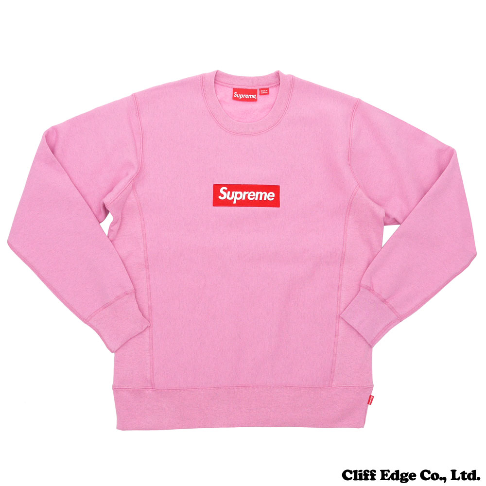 SUPREME (슈 프림) Box Logo Crewneck (BOX 로고) (스웨트) HEATHER PINK 209-000421-049 +