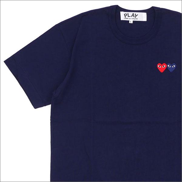PLAY COMME des GARCONS プレイ コムデギャルソン 2HEART TEE Tシャツ NAVY 200007273057x【新品】 半袖Tシャツ