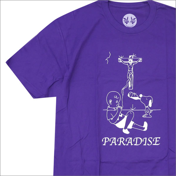 PARADIS3 PARADISE パラダイス Charlie Brown Paradise Tee Tシャツ PURPLE 420000022049x【新品】 半袖Tシャツ