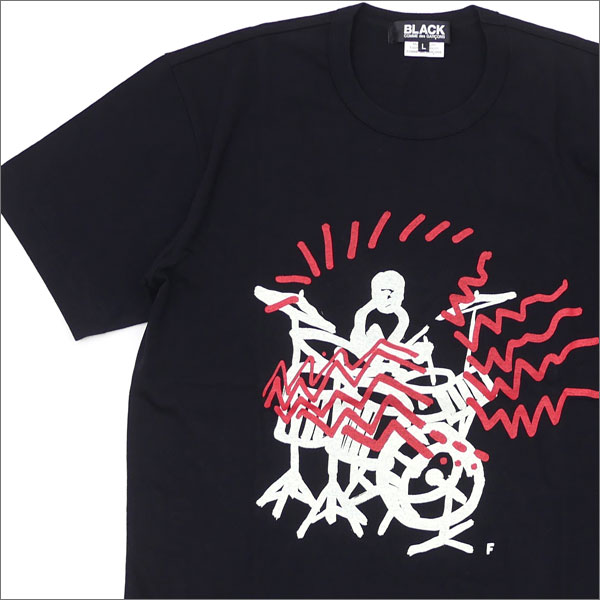 BLACK COMME des GARCONS ブラック コムデギャルソン DRUMMER SOUND TEE Tシャツ BLACK 200007369051x【新品】 半袖Tシャツ
