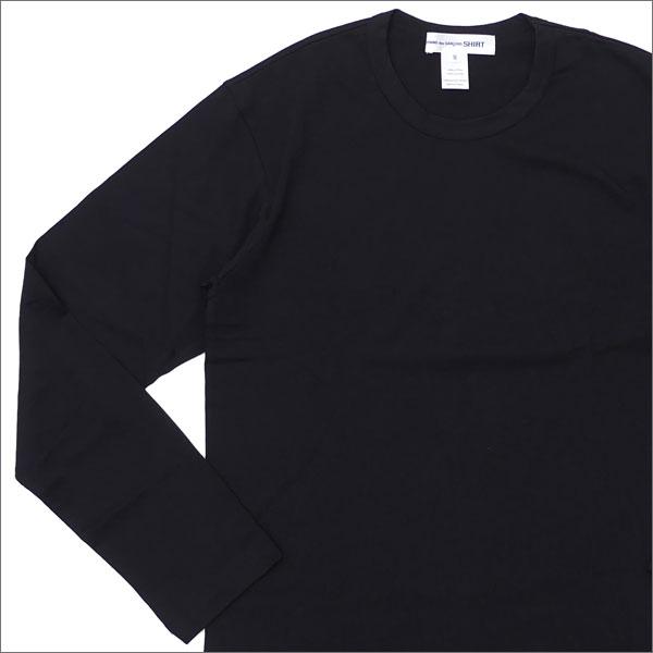 COMME des GARCONS SHIRT コムデギャルソン シャツ Hem Logo Print L S Tee 長袖Tシャツ BLACK 202000896041x【新品】 TOPS