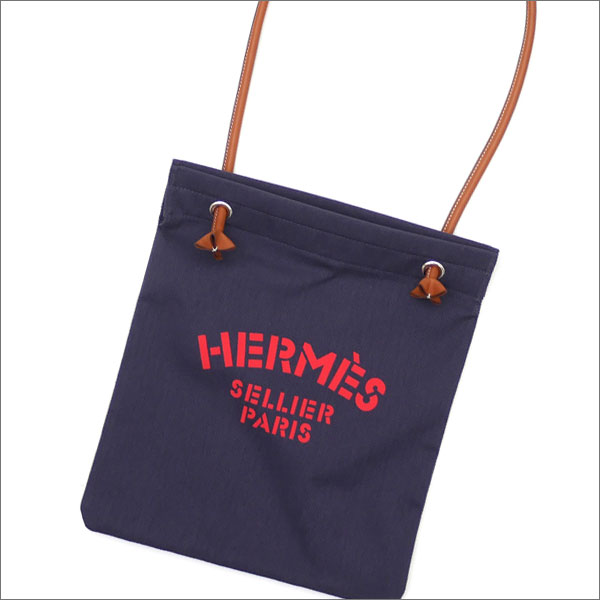 HERMES エルメス ALINE TOILE CHEVRON ショルダーバッグ BLEU INDIGOxFAUVE 277002462014+【新品】 グッズ