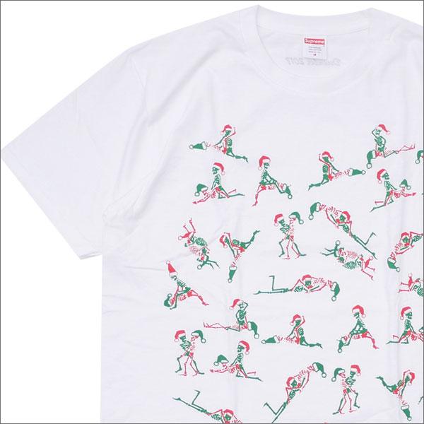 シュプリーム SUPREME Christmas Tee Tシャツ WHITE 200007690140+【新品】 半袖Tシャツ