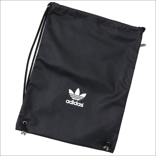 adidas アディダス LEATHER GYM SACK ジムサック BLACK 420000109011+【新品】 グッズ