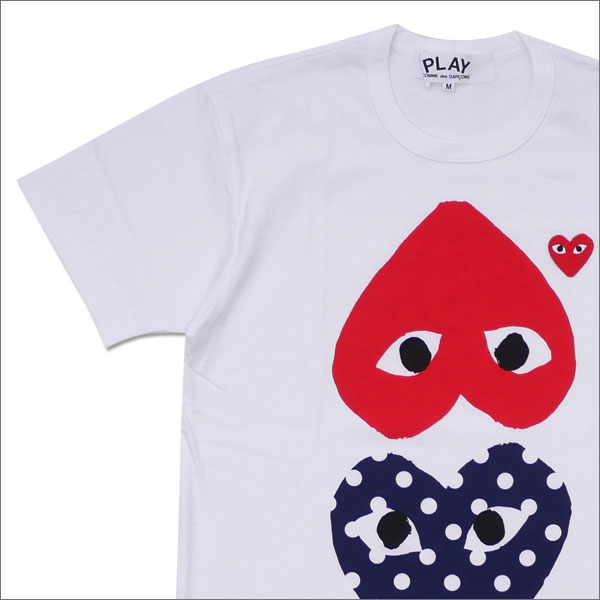 PLAY COMME des GARCONS プレイ コムデギャルソン MENS DOT UPSIDE DOWN HEART TEE Tシャツ WHITE 200007700040x【新品】 半袖Tシャツ