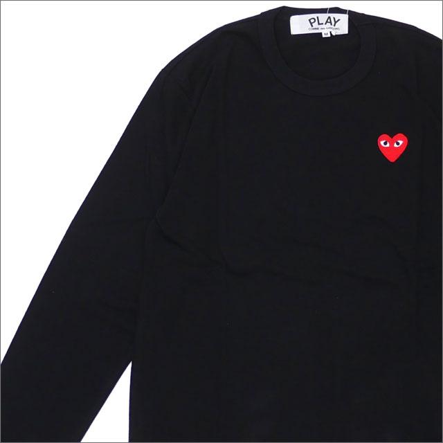 PLAY COMME des GARCONS プレイ コムデギャルソン MENS RED HEART L S TEE 長袖Tシャツ BLACK 200007741041x【新品】 TOPS