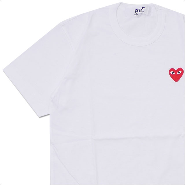 PLAY COMME des GARCONS プレイ コムデギャルソン MENS RED HEART ONE POINT TEE Tシャツ WHITE 200007772030x【新品】 半袖Tシャツ
