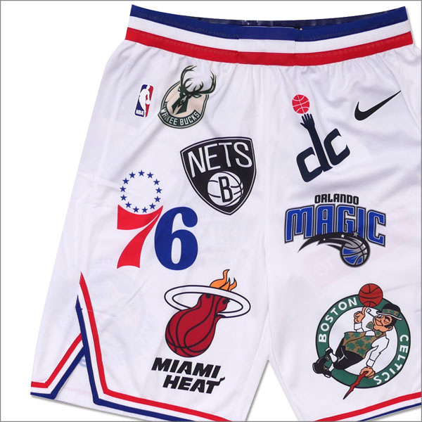 ナイキ NIKE x シュプリーム SUPREME NBA Teams Authentic Short バスケショーツ WHITE 244000741130+【新品】 パンツ