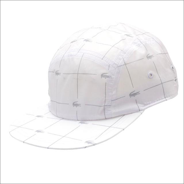 シュプリーム SUPREME x LACOSTE ラコステ Reflective Grid Nylon Camp Cap キャンプキャップ WHITE 265001033110+【新古品 未使用】 ヘッドウェア