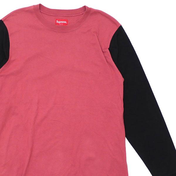 【Sサイズ】 シュプリーム SUPREME 2Tone Sleeve Logo L S Top 長袖Tシャツ メンズ 2016F W 334000021033 【中古】 TOPS