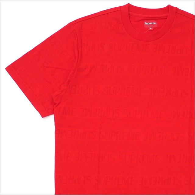 シュプリーム SUPREME Mesh Stripe Top Tシャツ RED 203000293143+【新品】 半袖Tシャツ