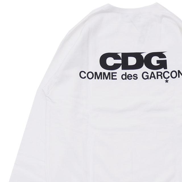 シーディージー CDG コムデギャルソン COMME des GARCONS LOGO CREW NECK SWEATSHIRT スウェット WHITE ホワイト 白 メンズ 【新品】 209000530060 SWT/HOODY