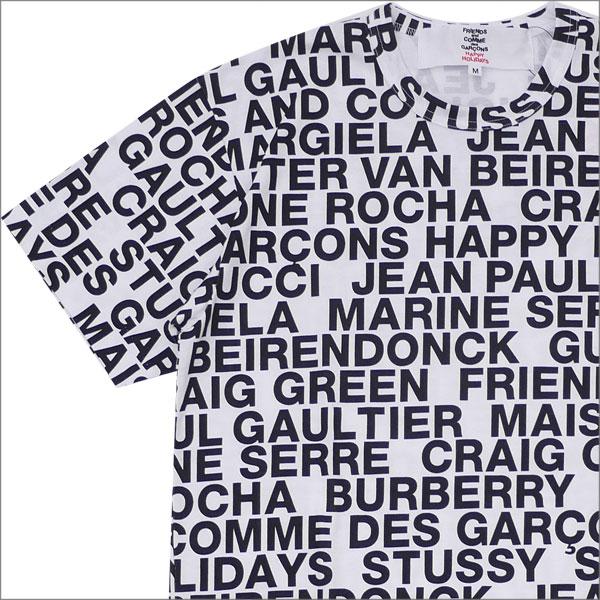 コムデギャルソン COMME des GARCONS MENS TYPOGRAPHY TEE Tシャツ WHITE ホワイト 白 メンズ 【新品】 200008060040 半袖Tシャツ