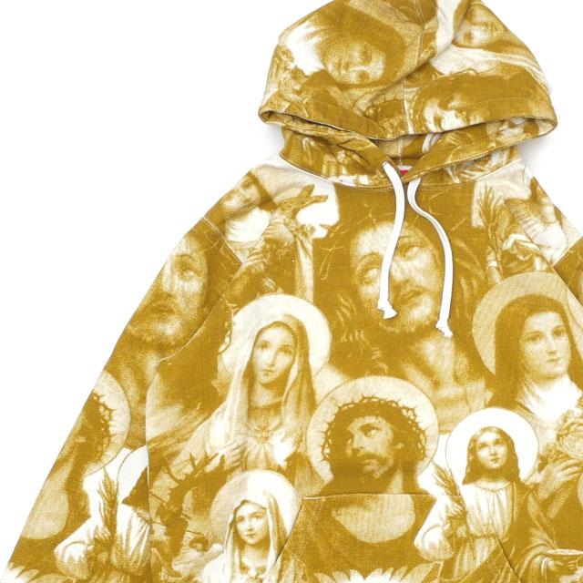 シュプリーム SUPREME Jesus and Mary Hooded Sweatshirt スウェット パーカー GOLD ゴールド メンズ 【新品】 211000621148 SWT/HOODY