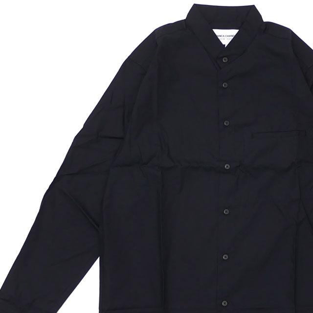 ビアンカシャンドン Bianca Chandon LONG SLEEVE BUTTON UP SHIRT 長袖シャツ BLACK ブラック 黒 メンズ 【新品】 420000264041 TOPS