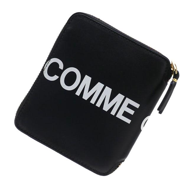 新品 コムデギャルソン COMME des GARCONS Huge Logo Bi-fold Wallet 二つ折り財布 BLACK ブラック 黒 メンズ レディース 新作 271000395011 グッズ