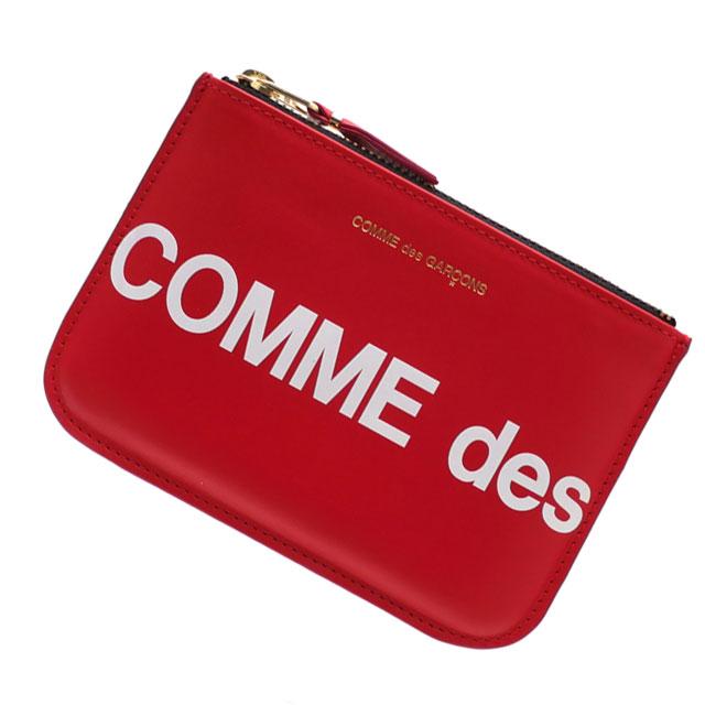 新品 コムデギャルソン COMME des GARCONS Huge Logo Wallet 財布 RED レッド 赤 メンズ レディース 新作 271000396013 グッズ