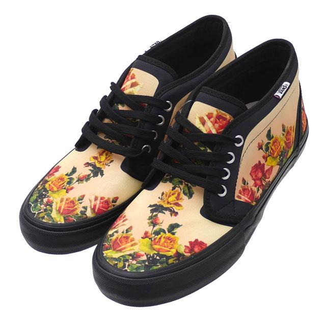 新品 シュプリーム SUPREME x ジャンポール・ゴルチエ Jean Paul Gaultier x バンズ VANS Floral Print Chukka Pro BLACK 291002560301 フットウェア