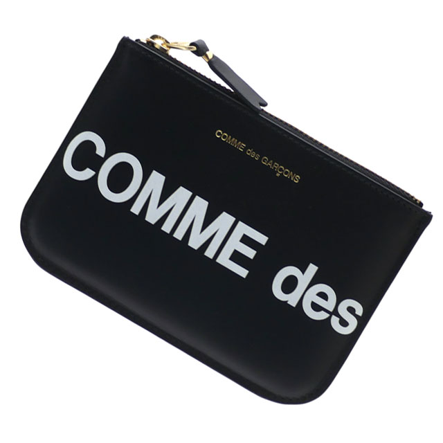 新品 コムデギャルソン COMME des GARCONS Huge Logo Wallet 財布 BLACK ブラック 黒 メンズ レディース 新作 271000396011 グッズ