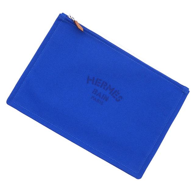 新品 エルメス HERMES YACHTING GM FLAT PORCH クラッチバッグ ポーチ BLEU SMALT メンズ レディース 288001195019 グッズ