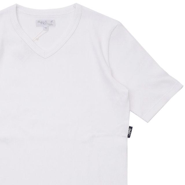 新品 アニエスベー オム agnes b. HOMME J029 TS TEE Vネック Tシャツ WHITE ホワイト 白 メンズ 新作 200008221520 半袖Tシャツ