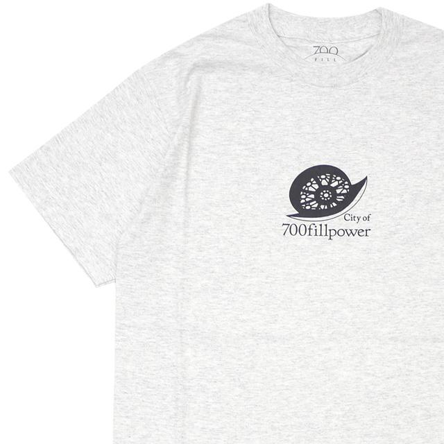 新品 セブンハンドレッドフィル 700fill Cupertino Tee Tシャツ ASH GREY アッシュグレー メンズ 新作 700フィル 半袖Tシャツ