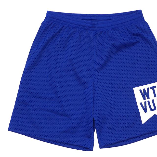 新品 ダブルタップス WTAPS QB/SHORTS.POLY メッシュ フットボール ショーツ BLUE ブルー 青 メンズ 新作 191ATDT-CSM30 (W)TAPS パンツ
