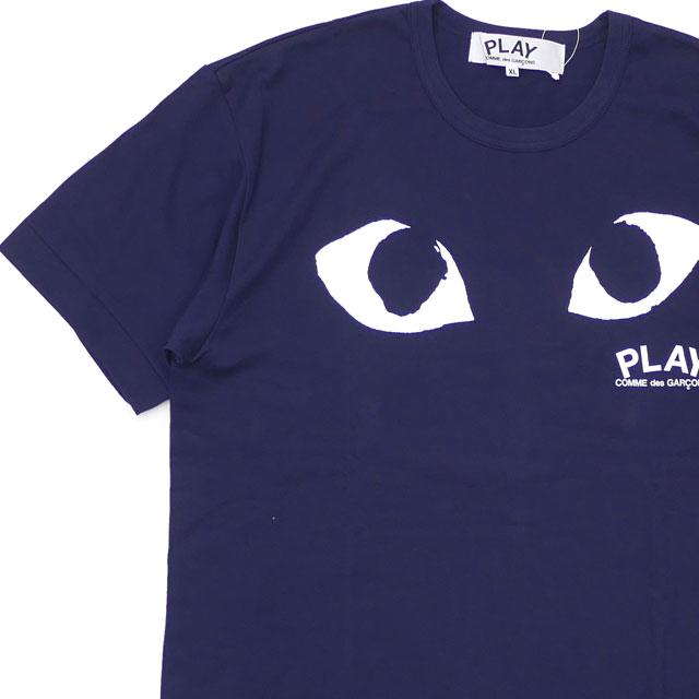 新品 プレイ コムデギャルソン PLAY COMME des GARCONS MENS PLAY EYE TEE Tシャツ NAVY ネイビー 紺 メンズ 半袖Tシャツ