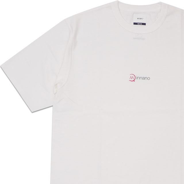 新品 ダブルタップス WTAPS x ミンナノ min-nano MAXE SS 03 TEE Tシャツ WHITE ホワイト 白 メンズ 新作 191ATMID-CSM03S (W)TAPS 半袖Tシャツ