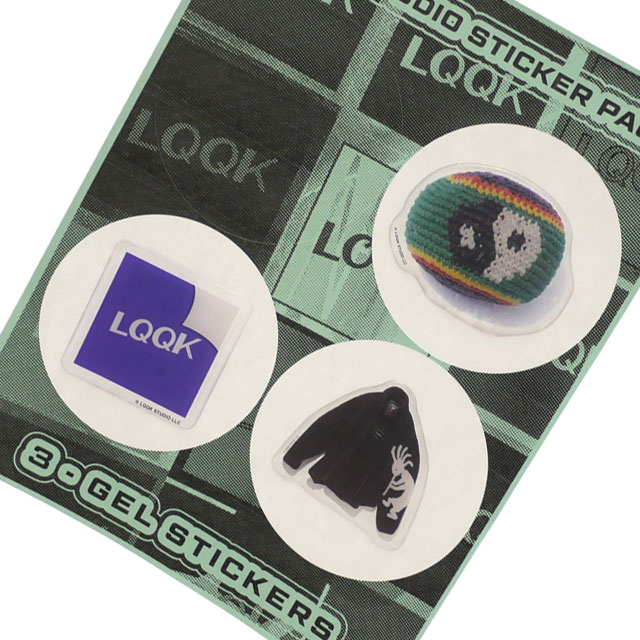 ルックスタジオ LQQK 人気ブレゼント! お金を節約 STUDIO 100%安心保証 当店取扱い商品は全て本物 正規商品 新品 STICKER PACK グッズ マルチ 39ショップ レディース 3枚セット 新作 メンズ ステッカー MULTI