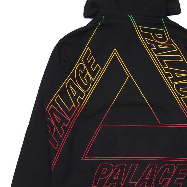 新品 パレス スケートボード Palace Skateboards LINEAR TRIPLE FADE HOOD フーディー スウェット パーカー BLACK ブラック 黒 メンズ 新作 SWT/HOODY