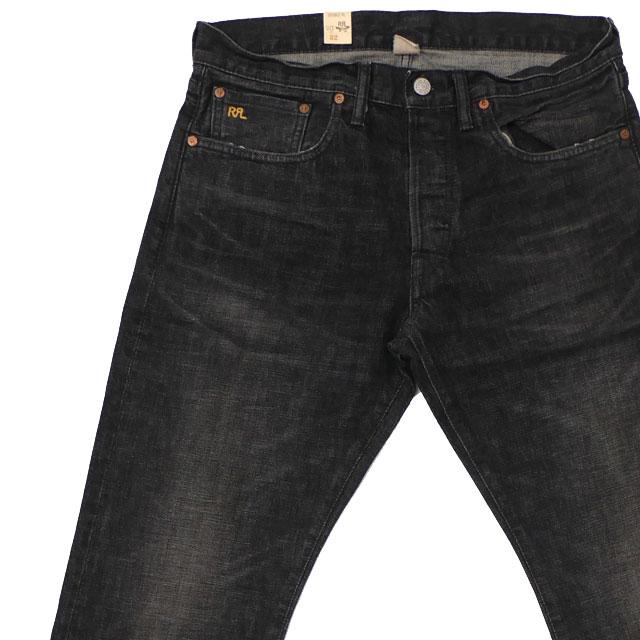 新品 ロンハーマン Ron Herman x ダブルアールエル Double RL RE51 Black Soot デニムパンツ BLACK ブラック 黒 メンズ 新作 パンツ