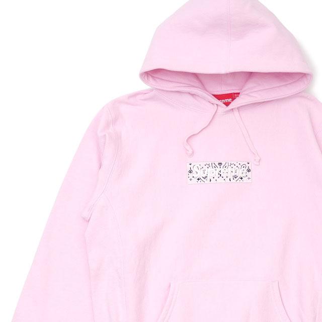 新品 シュプリーム SUPREME Bandana Box Logo Hooded Sweatshirt バンダナ ボックスロゴ フーディー スウェット パーカー PINK ピンク メンズ 新作 SWT/HOODY