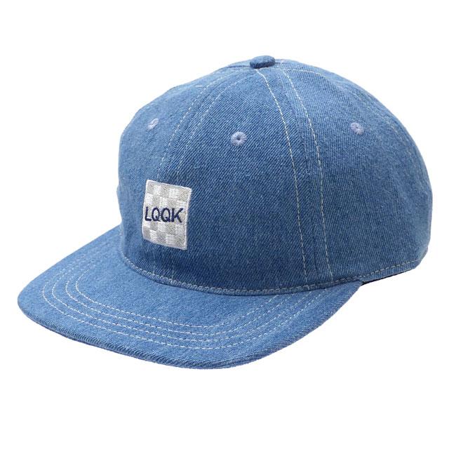 新品 ルックスタジオ LQQK STUDIO DENIM LOGO HAT キャップ WASHED DENIM デニム メンズ レディース 新作 ヘッドウェア