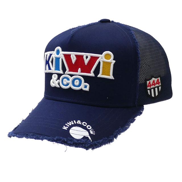 新品 ヨシノリコタケ YOSHINORI KOTAKE x キウィアンドコー KIWI&CO. TWILL MESH CAP 2 キャップ NAVY ネイビー 紺 メンズ 新作 ヘッドウェア