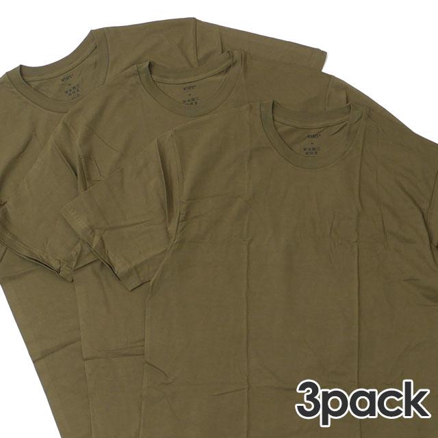 新品 ダブルタップス WTAPS SKIVVIES.TEE Tシャツ 3枚セット OD オリーブドラブ メンズ 新作 (W)TAPS 半袖Tシャツ