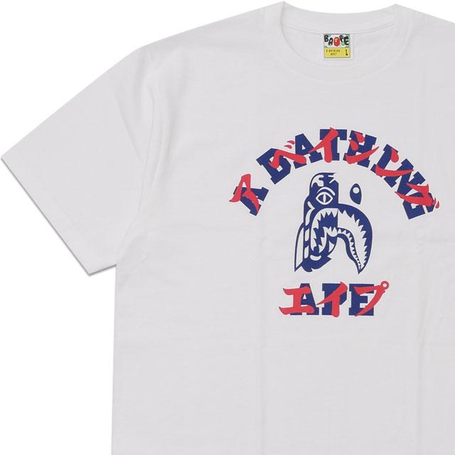 新品 エイプ A BATHING APE 20SS TIGER SHARK KATAKANA TEE Tシャツ WHITE ホワイト 白 メンズ 2020SS 新作 1G20110033 半袖Tシャツ
