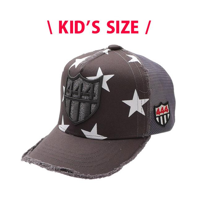 キッズサイズ 新品 ヨシノリコタケ YOSHINORI KOTAKE 444LOGO STAR MESH CAP キャップ CHARCOAL チャコール KID'S 新作 ヘッドウェア