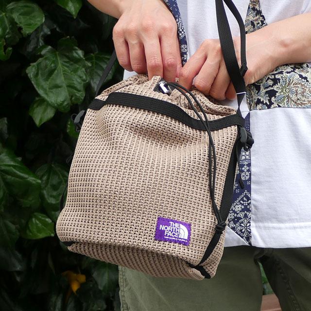 新品 ザ・ノースフェイス パープルレーベル THE NORTH FACE PURPLE LABEL Mesh Bucket Shoulder Bag ショルダー バッグ BE(BEIGE) 新作 NN7014N グッズ