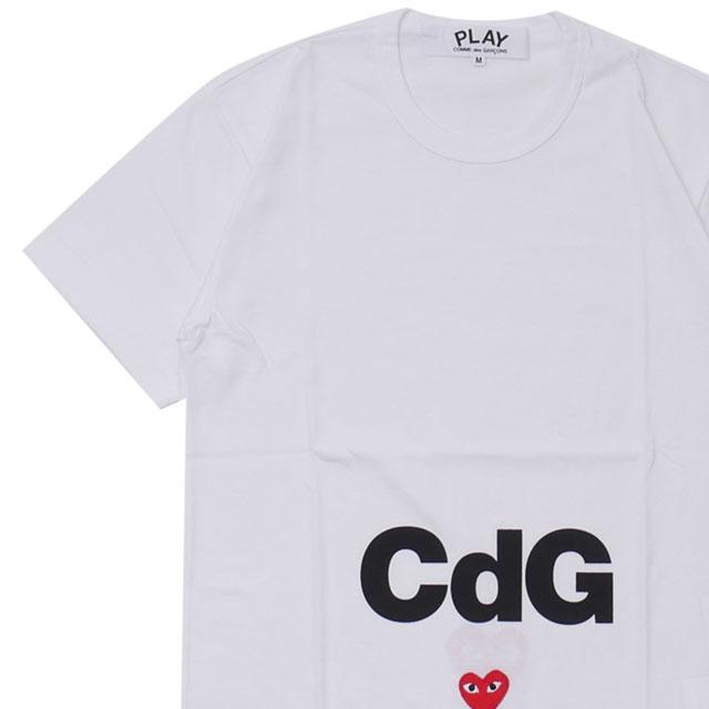 コムデギャルソン COMME オリジナル des GARCONS 即納 100%安心保証 当店取扱い商品は全て本物 正規商品 新品 プレイ PLAY x シーディージー 新作 メンズ Cdg 白 半袖Tシャツ T-Shirt Play WHITE CDG MENS Tシャツ ホワイト
