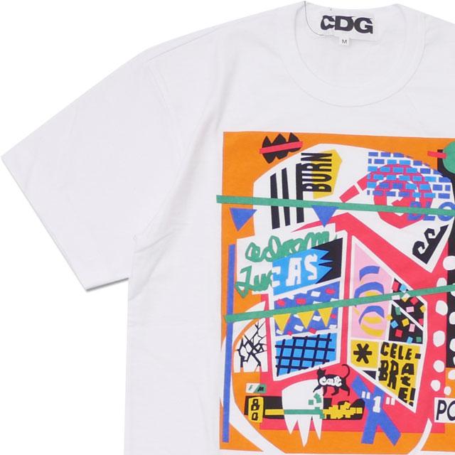 CDG シーディージー CELEBRATE! TEE Tシャツ WHITE 200007930040x【新品】 COMME des GARCONS コムデギャルソン  半袖Tシャツ