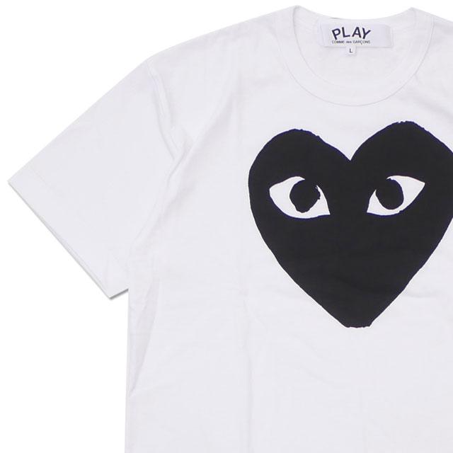 PLAY COMME des GARCONS プレイ コムデギャルソン MENS BLACK HEART TEE Tシャツ WHITE 200007921050+【新品】 半袖Tシャツ