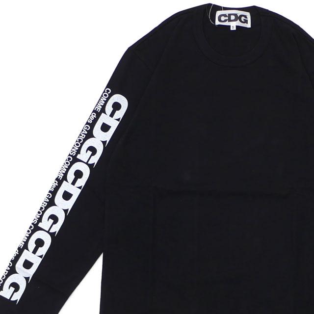 CDG シーディージー CDG L S TEE 長袖Tシャツ BLACK 202000967031+【新品】 COMME des GARCONS コムデギャルソン  TOPS
