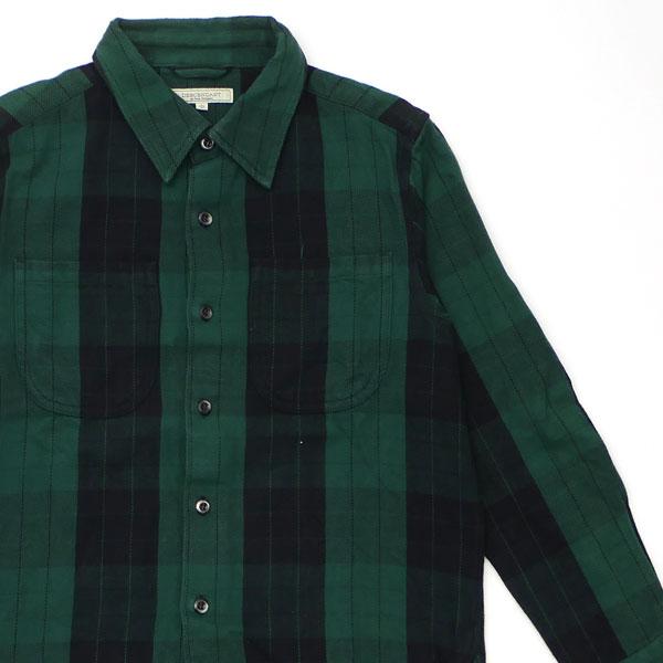 ディセンダント DESCENDANT PLAID LS SHIRT プレイド 長袖シャツ GREEN グリーン 緑 メンズ サイズ1 【中古】 334000173515 (TOPS)