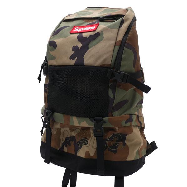 シュプリーム Supreme 15FW Contour Backpack バックパック WOODLAND CAMO ウッドラウンド カモ メンズ レディース FREEサイズ 【中古】 2015FW 176000370019 (グッズ)