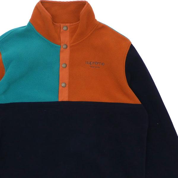 シュプリーム Supreme 16FW Polartec Fleece Color Blocked Half Snap フリース NAVY ネイビー 紺 メンズ Sサイズ 【中古】 2016FW 139000163039 (TOPS)